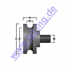 counter roller for Sematic C144AAOP, round groove, excentric