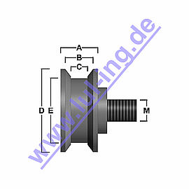 door roller for Fermator 40/10 PM, V groove,axis excente