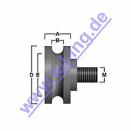 counter roller for Sematic C144AAOP01, round groove